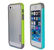 Fashion Double Color TPU Frame Bumper for iPhone5S(Yellow+Blue)