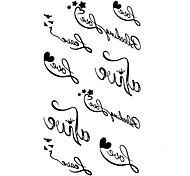 5 Stück liebe Wasserdicht Tattoo (10,5 cm * 20,5 cm)