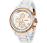 Unisex  Round Dial Alloy Band Quartz Analog Wrist Watch (Assorted Colors)