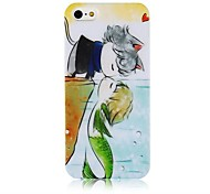 Mermaid Pattern Silicone Soft Case for iPhone5/5s