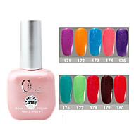 1PCS CH Soak-off Pink Bottle Astral Glitter UV Color Gel Polish NO.171-180(15ml,Assorted Color)