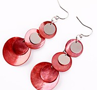 Shell Iron Pendant Earrings