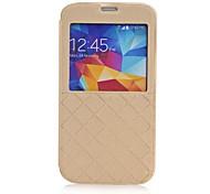o caso de couro estilo da janela de grade para i9600 Samsung Galaxy S5