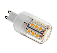 4W G9 LED Corn Lights T 30 SMD 5050 400 lm Warm White Dimmable AC 220-240 V