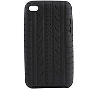 Patrón de columnas vertebrales de silicona caso de goma suave para el iPod touch 4
