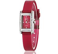 Da Mulher Diamante H forma de retângulo Dial Silicone Banda Quartz Analógico Moda Watch (cores sortidas)