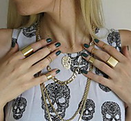 shixin® europäischen einfachen Kreis Frauen midi Ringe (Silber, Gold) (7 Stück)