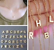 shixin® europäischen einfache Kette mit gold Alphabet-Legierung Anhänger Halskette (1 PC)