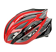 FJQXZ Integrally-molded EPS+PC Red Cycling Helmets (21 Vents)