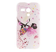 Kinston Butterfly Girl Pattern Plastic Hard Case for Motorala Moto G