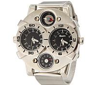 Multi-fonctionnel symétrique cadran des hommes de quartz de bande de montre de mode analogique en alliage (couleurs assorties)