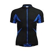 Jaggad Cycling Jersey Summer Unisex Black Blue Polyester Spandex Rear Zipper Pocket Cycling Jersey
