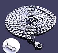 Personalisierte Geschenke Silber Edelstahlschmuck Gravur-Kettenhals 0,5 cm Breite