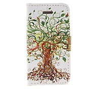 Patrón de Kinston Tree Art PU Leather Case cuerpo completo con soporte para iPhone 4/4S