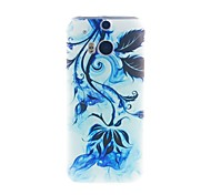 Kinston Ink Plant Pattern Tpu Soft Case for HTC one(m8)