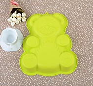 28CM*23.5CM*4.5CM Little Bear Software Silicone Cake Bakeware Mould