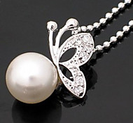 Pearl Butterfly Pendant Necklace