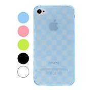 Grid Pattern TPU Soft Case for iPhone 4/4S
