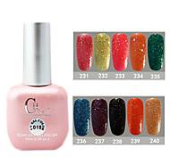 1PCS CH Soak-off Pink Bottle Astral Glitter UV Color Gel Polish NO.231-240(15ml,Assorted Color)