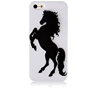 Black Horse Silicone Soft hoesje voor iPhone4/4S