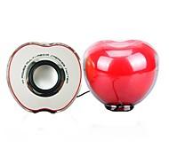 Music-F  M-17 AppleHigh Quality Stereo USB 2.0Multimedia Speaker   (Red)