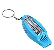 4-in-1  Multifunction Survival Whistle with Compass + Thermometer + Folding Magnifier + Keyring - Blue