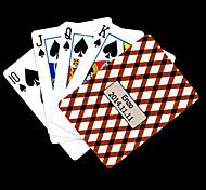 Presente personalizado Brown padrão de verificação do cartão de jogo para Poker