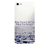 Makes You Stronger Pattern PC Hard Case for iPhone 5C