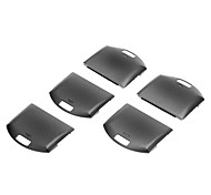 5 PCS Battery Cover Replacement Repair Parts for PSP 1000(Black)