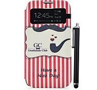 Иметь хороший день Pattern PU Полный Case тела с подставкой и стилус для Samsung Galaxy S4 i9500