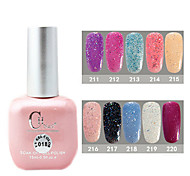 1PCS CH Soak-off Pink Bottle Astral Glitter UV Color Gel Polish NO.211-220(15ml,Assorted Color)