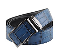 Evergold Herrenmode Blau Split Leder Automatische Buckle Belt