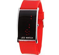 Donna LED rosso Digital silicone banda orologio da polso (colori assortiti)