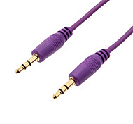 3.5mm TRS Male to Male Flat Audio Connection Cable (Purple, 1m)
