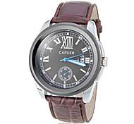 Men's Roman Numerals PU Band Quartz Wrist Watch (Assorted Colors)