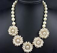 z&X® dolce (fiore ciondolo) avorio imitazione Collana di perle (1 pc)