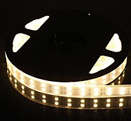 Dual Row 600x5050 SMD 144W  6000LM IP67 Waterproof Warn White Light LED Strip Light (5-Meter/DC 12V)
