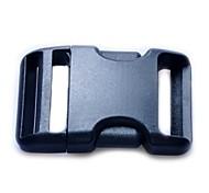Luggage Strap Belt Clip Plastic Side Release Buckles 38mm - Black