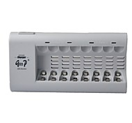 8-Slot AA / AAA Battery Charger - Grey (2-Round-Pin Plug / AC 100~240V)