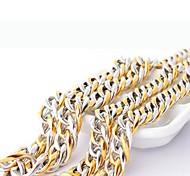 de color titanio de oro collar de cadena de acero de los hombres de la moda