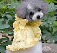 Summer Fashion Pet cordón de lujo del Bowknot Shirt para Mascotas Perros (colores surtidos, tamaños)