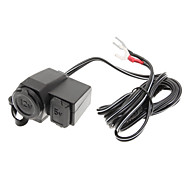 Motorcycles Auto Car Charger USB Waterproof 12v Cigarette Lighter Power Outlet