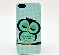 Sleeping Owl Pattern TPU Soft Case for  iPhone 4/4S