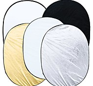 5 in 1 Photography Studio Multi Photo Collapsible Light Reflector Oval 90 x 120cm