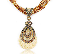 Fashion Water-Drop Pendant Exquisite Necklace