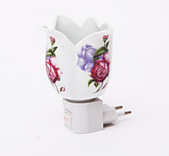 Wideopen Shape Flower Pattern 2 Mode LED Night Light(110V-240V)