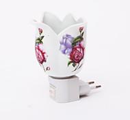 Forme Wideopen motif fleur 2 Mode LED Night Light (110V-240V)