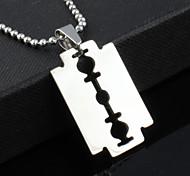 Z&X®  Punk Razor Titanium Steel Men's  Necklace(1 pc)  Christmas Gifts