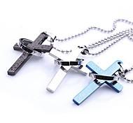 mumar clásico biblias transversales personalizadas collar del acero inoxidable de la joyería colgante con 60 cm de cadena
