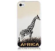 Giraffe pattern Custodia morbida in silicone per iPhone4/4S